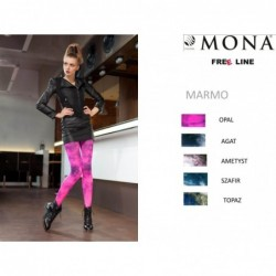 Rajstopy Free Line Marmo 60 den kolor ametyst rozmiar 3-M