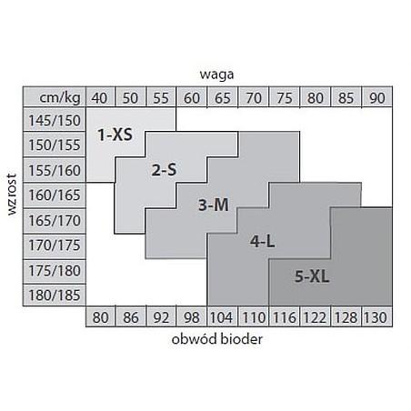 Rajstopy Free Line Marmo 60 den kolor ametyst rozmiar 4-L